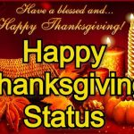 Happy Thanksgiving Status