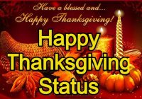 Happy Thanksgiving Status